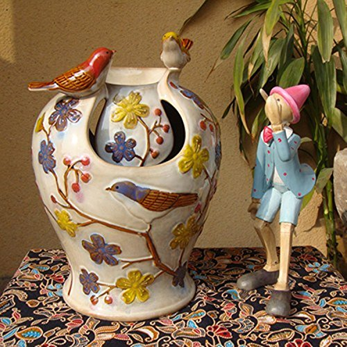 OLQMY Home Furnishing stereo bird ornaments, water fountain, ceramic Home Furnishing soft ornaments, handicrafts