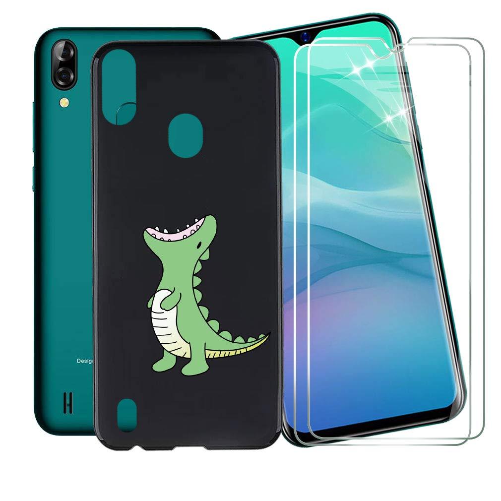 Amazon.com: Phone Case Roaring Dragon Black + 2 x Tempered ...