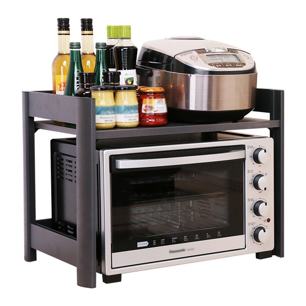 Kitchen Countertop Household Storage Rack Oven Shelf Double Layer 58 42 45cm