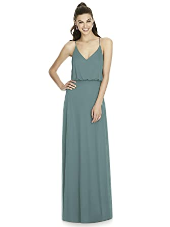 74ea65e94f Forever Alfred Sung Style D739 Floor Length Chiffon A-Line Skirt Formal  Dress - V