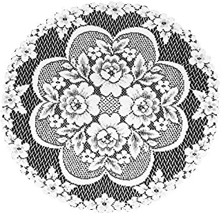 product image for Heritage Lace Victorian Rose 19-Inch Doily, Ecru, Set of 2