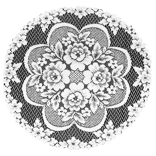 Heritage Lace Victorian Rose 19-Inch Doily, White, Set of 2 by Heritage Lace
