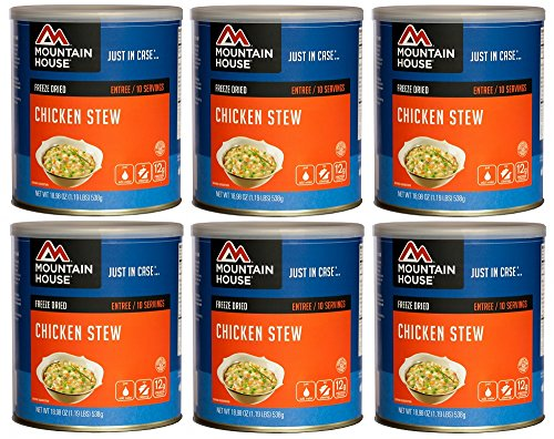 Mountain House Chicken Stew #10 Can Freeze Dried Food - 6 Cans Per Case NEW!