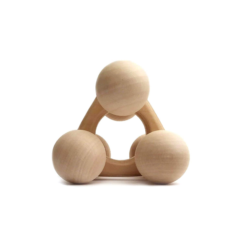 brandsplus bunter Baby-Roll-Greifling aus Holz-Babyspielzeug fair Made in Germany