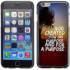 "Planetar® ( Bible Verse-GOD CREATED YOU ON PURPOSE AND FOR A PURPOSE ) 5.5"" iPhone 6 Plus Fundas Cover Cubre Hard Case Cover"