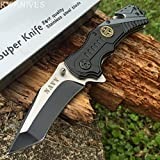 Snake Eye Tactical US Navy Rescue Style Assisted Opening Knife with Clip