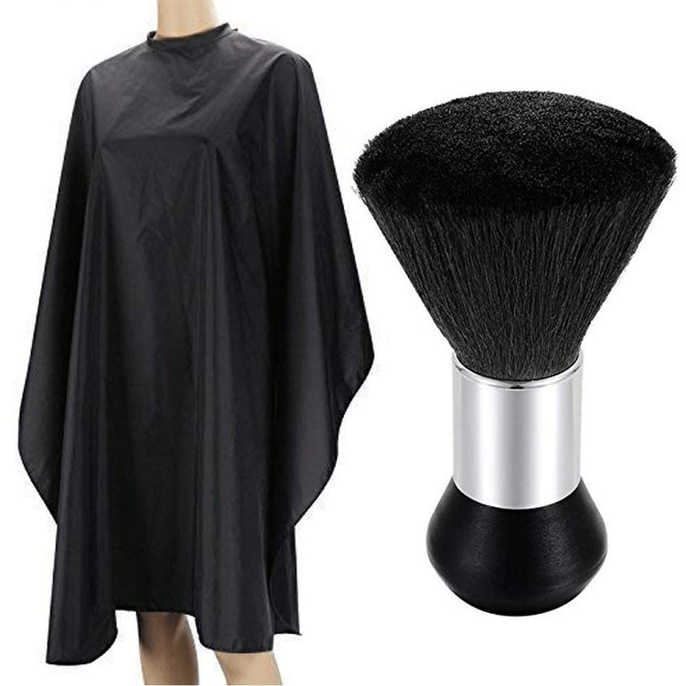 Borogo Professional Barber Cape, Salon Cape with Snap Closure for Hair Cutting, Neck Duster Brush Included - 60'' x 50'' by Borogo