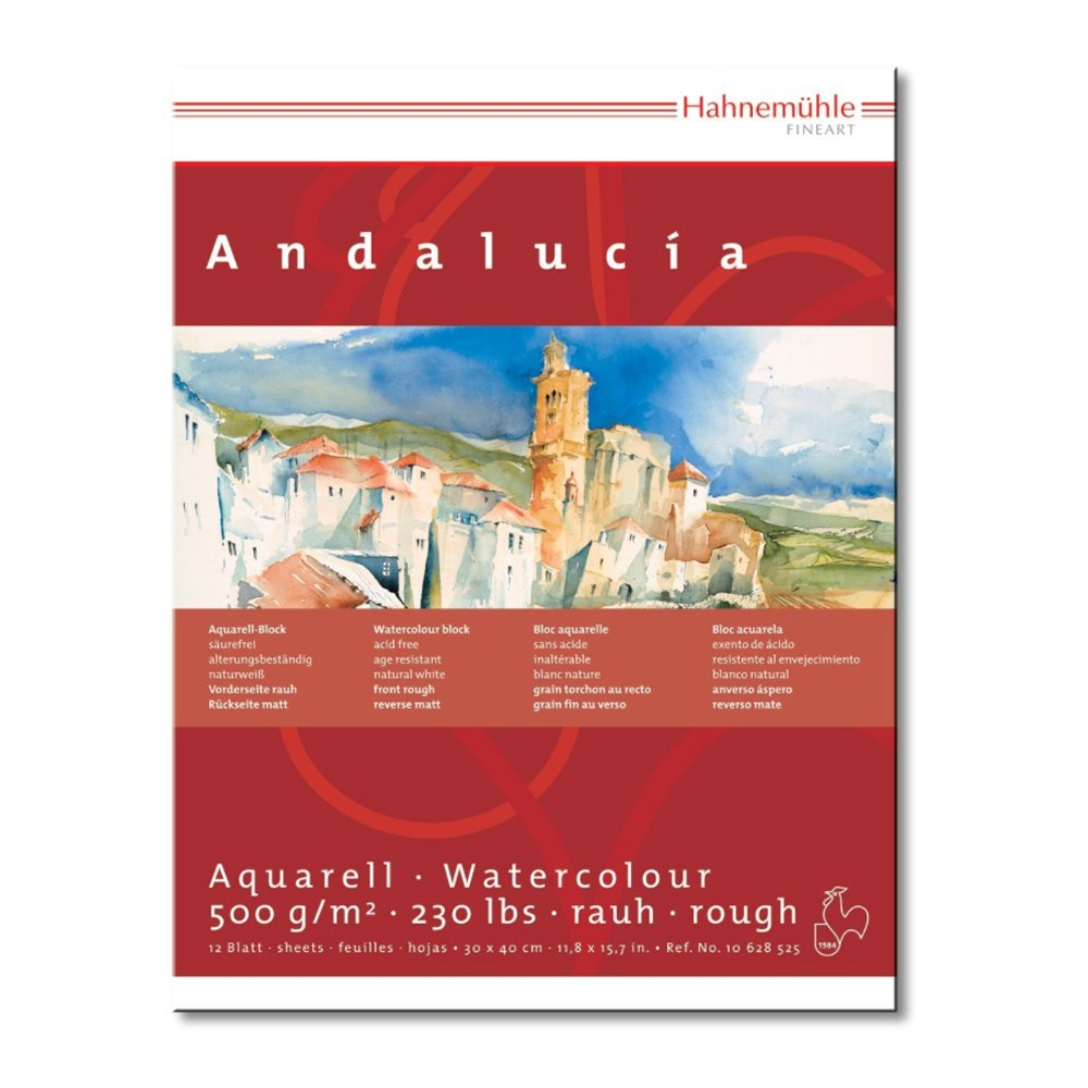 Hahnemuhle Andalucia Watercolour Block 30x40cm Hahnemuhle Fineart Gmbh