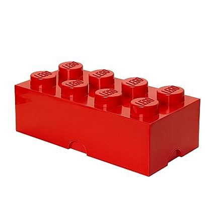 en soldes cb58f 53cb3 Brique de rangement LEGO 8 plots, Boîte de rangement empilable, 12 l, rouge