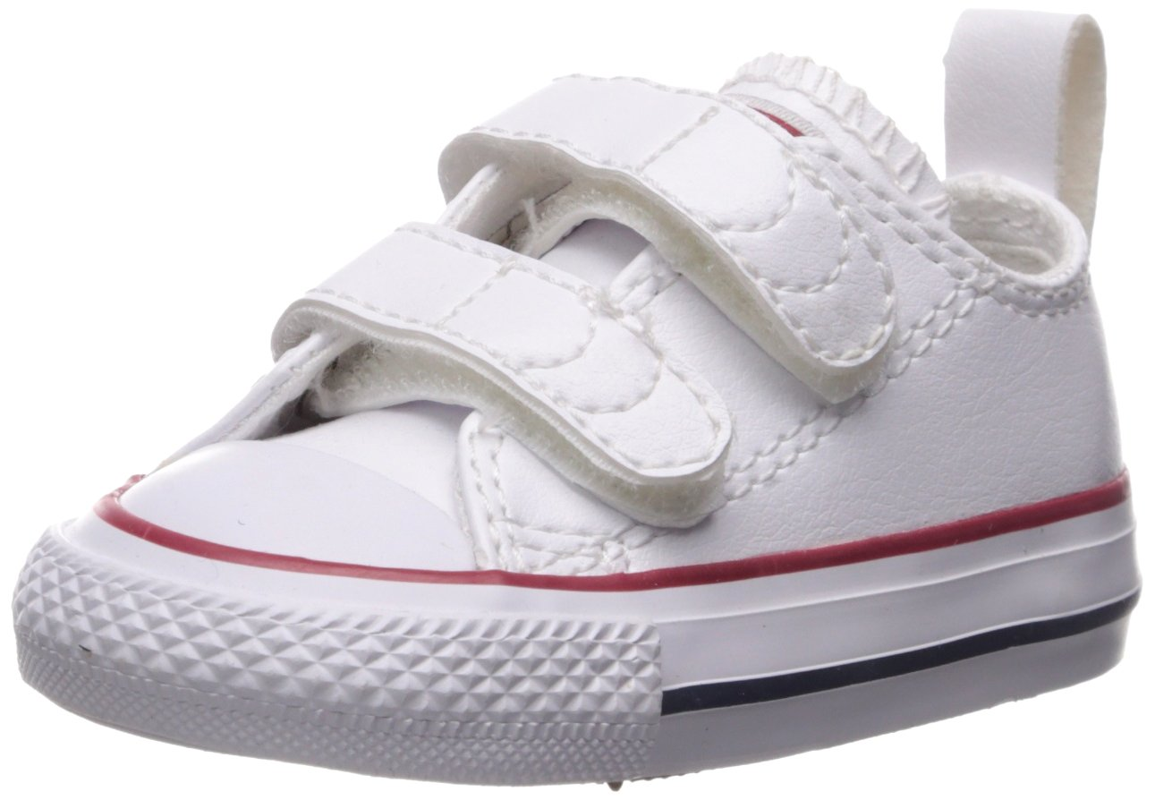 Converse Girl's Chuck Taylor All Star 2V Leather Low Top Shoe, White, 4 M US Toddler by Converse (Image #1)