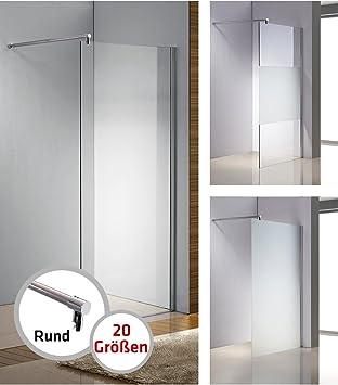 Duschabtrennung glas rund  CLP Edelstahl-Duschabtrennung, NANO Glas, Haltestange: RUND (bis ...