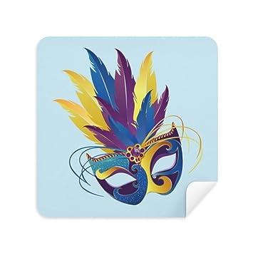DIYthinker Azul máscara de Plumas Carnaval Feliz de Venecia Vasos paño de Limpieza para la Pantalla