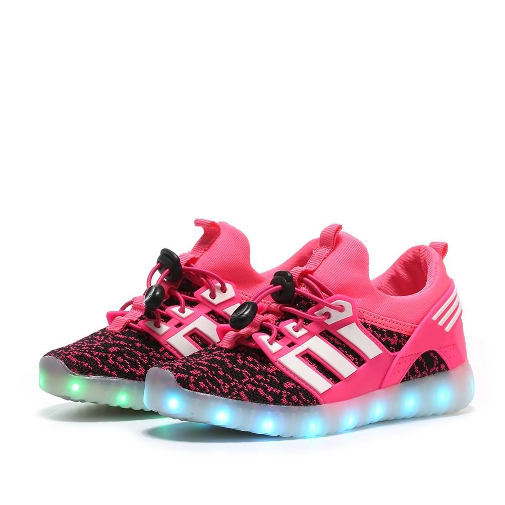 IGxx LED Light Up Shoes Glowing LED Sneaker for Kids Flashing Shoes Child LED Luminous Sport Shoes Boys Girls(Pink 36 EU)
