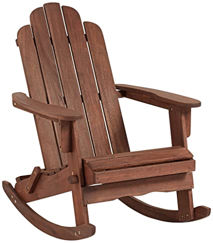 Exceptionnel Chandler Dark Natural Adirondack Rocking Chair