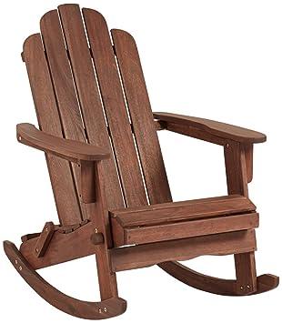 chandler dark natural adirondack rocking chair - Adirondack Rocking Chair
