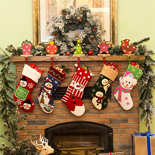 Glitzhome 20'' Handmade Hooked 3D Snowman Christmas Stocking by Glitzhome (Image #5)
