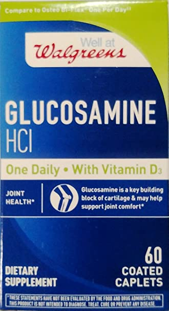 Walgreen Glucosamine HCI With Vitamin D3 60 Coated Caplets