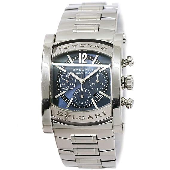 fd649e760566 ブルガリ BVLGARI アショーマ クロノグラフ AA44SCH メンズ 腕時計 デイト ネイビー オートマ 自動巻き ウォッチ 【中古