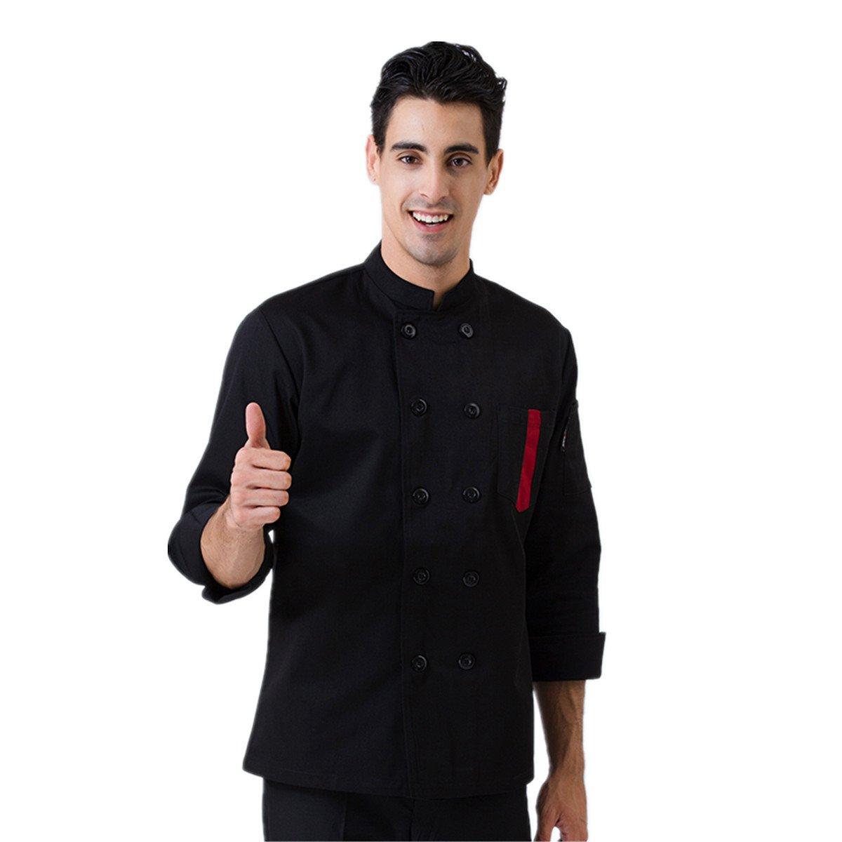 XINFU Chef's Uniform Short/Long Sleeve Decoration Hotel Western Restaurant Kitchen Single Button Chef Jacket