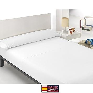 ONE PRICE - Juego de Sábanas 3 Piezas Microfibra TRANSPIRABLE Color Blanco (Cama 135_x_200_cm) : Amazon.es: Hogar