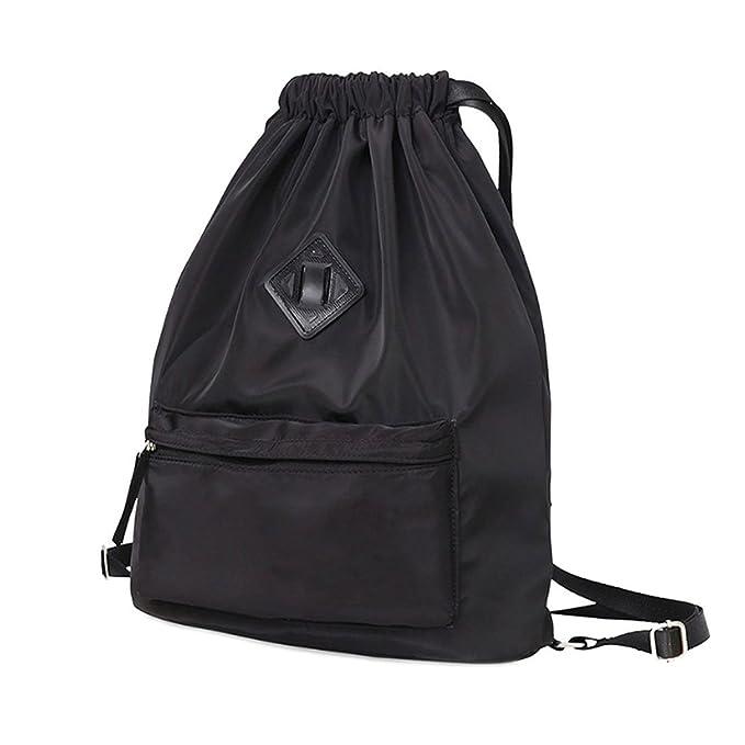 431ce1e08cb8 Waterproof Travel Sports Yoga Gym Drawstring Backpack String Bag Training  Gymsack Sackpack