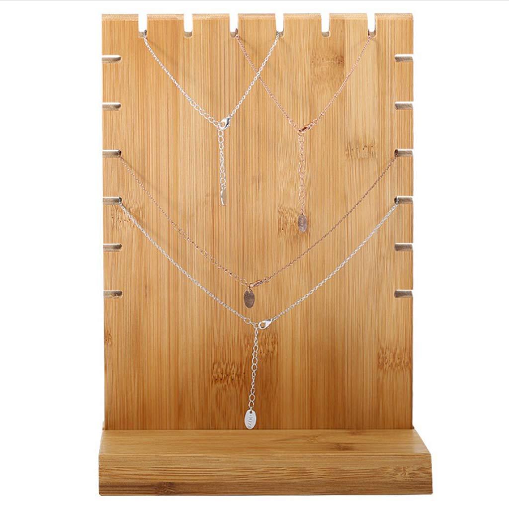 B Baosity Porte-Bijoux Pr/ésentoir pour Bijoux en Bois Bo/îtes /à Bijoux Support pour Ranger Boucles doreilles Colliers 17,5 /× 10 /× 25,2 cm Beige