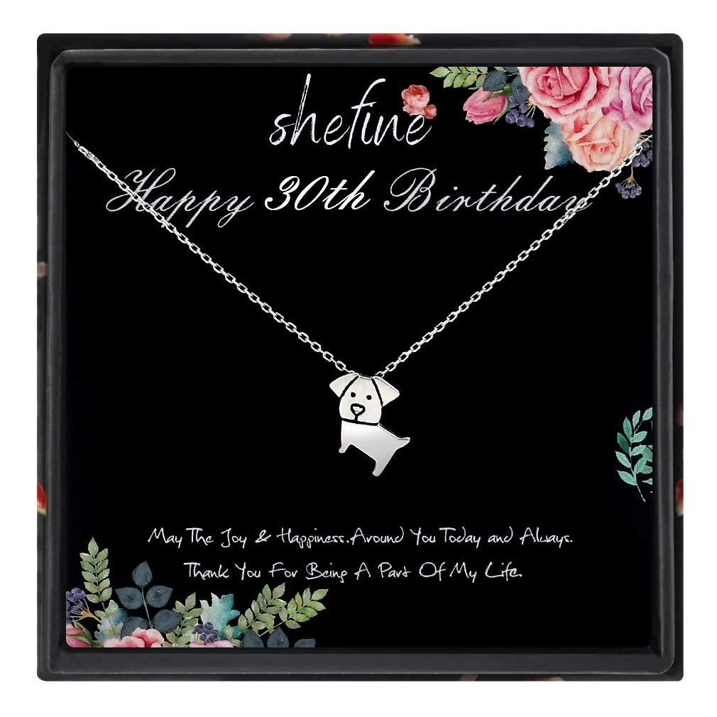 shefine Collar de plata de ley 925 para mujer, regalo de ...