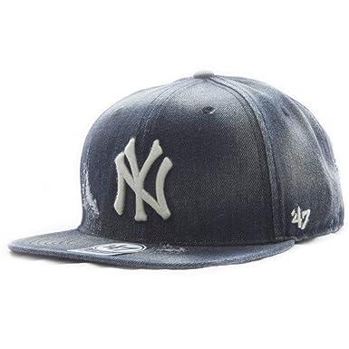 Gorra plana negra vaquero de New York Yankees MLB Captain Loughlin ...