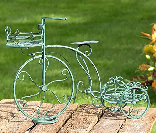 Iron Tricycle (Iron Tricycle Two Plant Stand Antique Green)