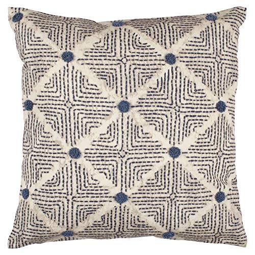 Rivet Transitional Tufted Dot Diamond Decorative Throw Pillow, 17