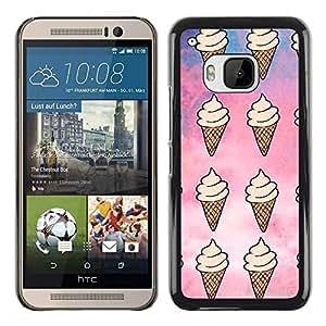 PC/Aluminum Funda Carcasa protectora para HTC One M9 ice cream pattern sky sweet summer / JUSTGO PHONE PROTECTOR