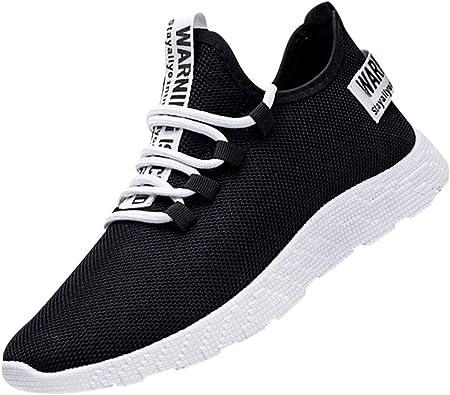 Zapatos Hombre MISSWongg Respirable Malla Zapatillas Deportes Antideslizante Resistente al Desgaste Suela de Goma Zapatos Deportes Shoes de Trekking Hombre Mujer Ligeras Running: Amazon.es: Zapatos y complementos