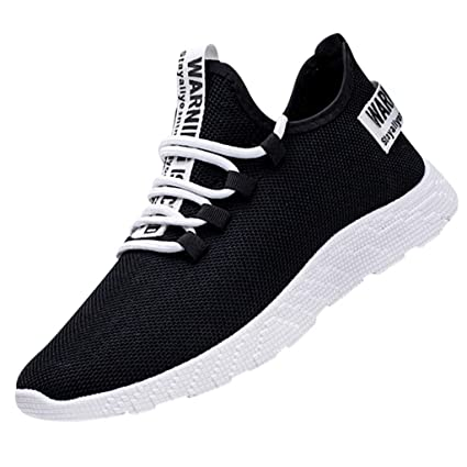 550d012cfbe9f Amazon.com: Men's Air Cushion Shoes Flying Weaving Running Shoes ...