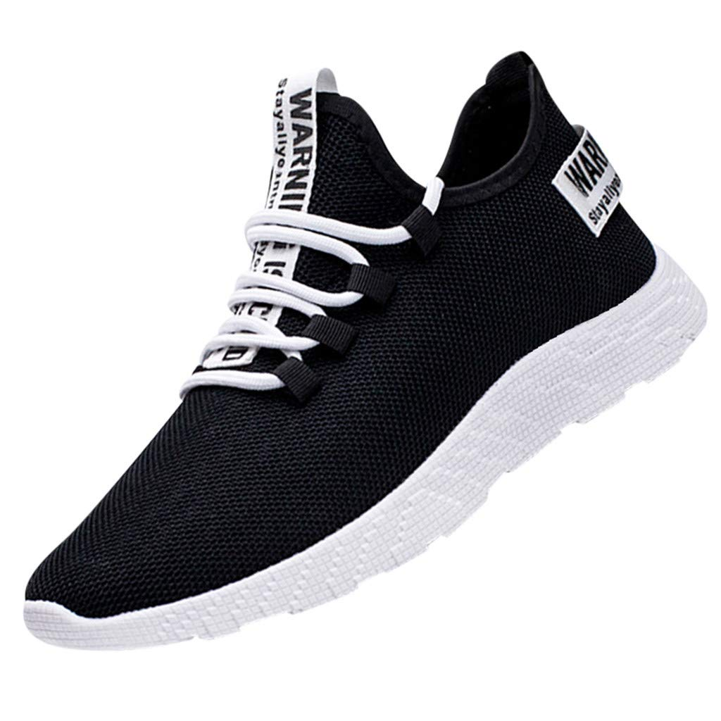OutTop(TM) Men's Sports Shoes Mesh Casual Athletic Running Shoes Lightweight Breathable Fashion Sneakers (US:8, Black)
