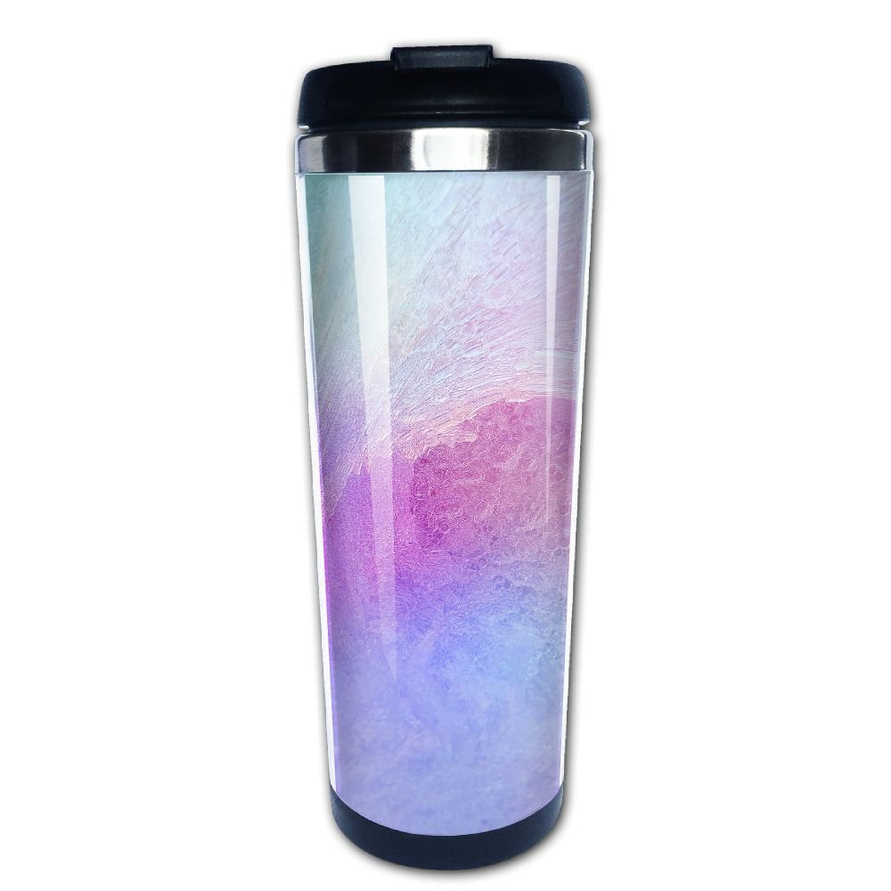 Kooiico Ice On A Window Background Coffee Mug Thermal Cup Drinkware With Easy Clean Lid 14-Ounce Mug