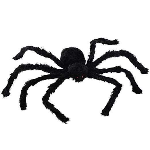 Amazon Com Large Black Spider Topbuti 30 Big Plush Spider