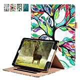 IPad Pro 10.5 Case 2017 - Direct Premium Leather Flip Stand Smart Cover Auto Wake/Sleep with Hand Strap, Stylus Holder and Card Pocket (Lucky Tree)