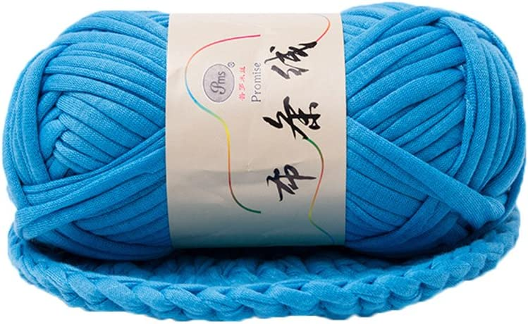 Jiacheng29 hand-knit Tejido hilo hilo de fantasía para DIY cesta trenzado de manta paño de ganchillo, poliéster, azul (Lake Blue), talla única
