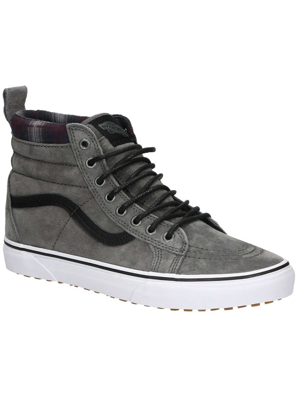 Vans Sk8-Hi Unisex Casual High-Top Skate Shoes, Comfortable and Durable in Signature Waffle Rubber Sole B019KVWKFW 8 M US Women / 6.5 M US Men|(Mte) Pewter/Plaid