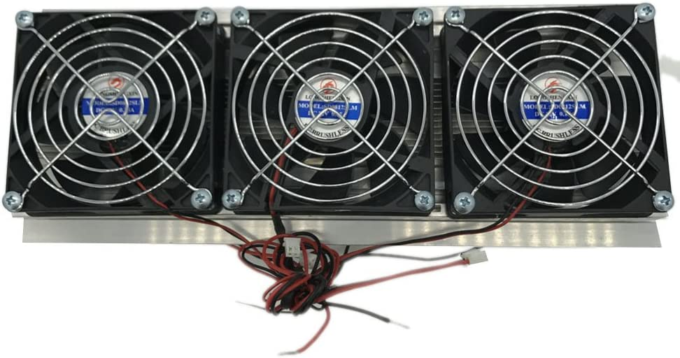 Northbear Semiconductor Refrigeration Cooler Fan Thermoelectric Peltier Water Cooling Device (3 Fans)