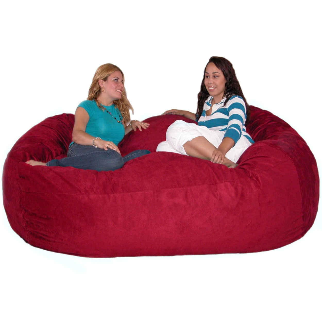 Amazon Cozy Sack 7 Feet Bean Bag Chair X Large Cinnabar Kitchen Dining