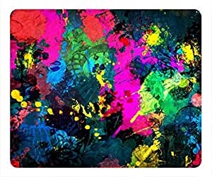 Colorful Paint Splatter Easter Thanksgiving Personlized Masterpiece Limited Design Oblong Mouse Pad by Cases & Mousepads