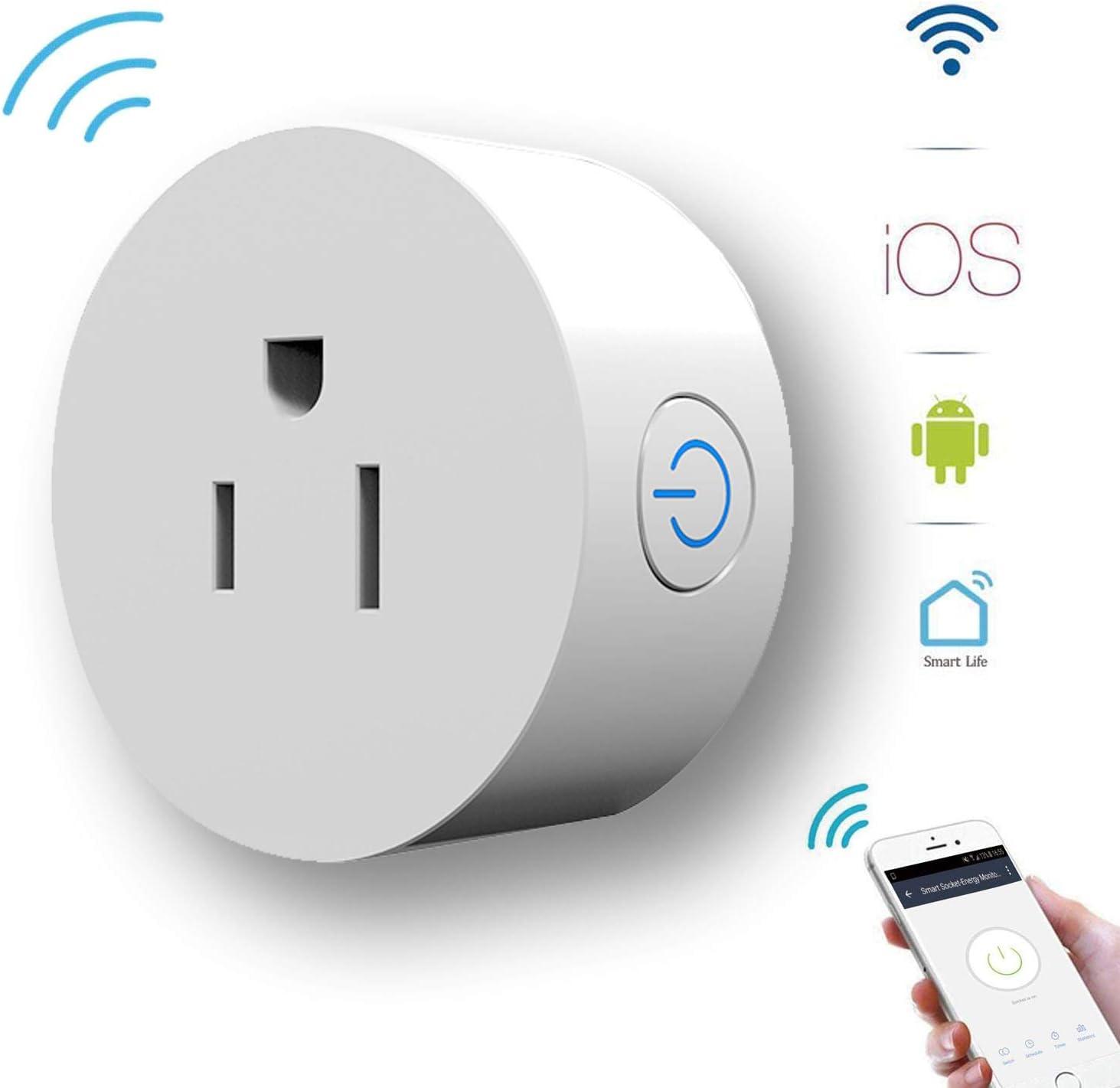 Smart Socket Alexa Plug Energy Monitoring GoKlug WiFi Outlet Plug Google Home, Smart Outlets That Work with Google Home, Alexa WiFi Plug Monitoring, WiFi Outlet Timer Switch, Smart Plug Alexa, No Hub