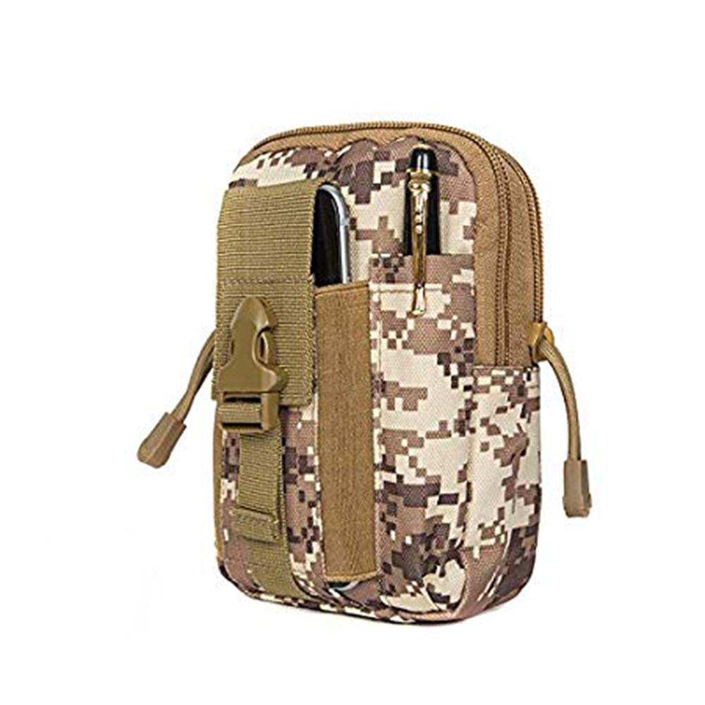 dianzhi Tactical Molle Pouch Compact EDC Walking Camping Oxford Cloth Impermeable Cintura Bolsa con Funda para tel/éfono Celular para iPhone 6 6s 7 8 Plus Samsung S6 S7
