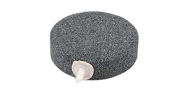 Amazon.com : eDealMax peces de acuario tanque de oxígeno Ronda difusor de burbujas de aire Piedra Gris 80 x 22 mm : Pet Supplies