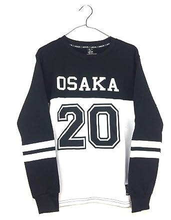 Uissos Sudadera Chico Sin Capucha Rayas Universitarias En Las Mangas Estampado Osaka 20 Combinada Larga Moda
