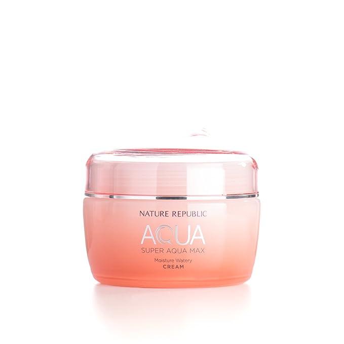 2 opinioni per Nature Republic Super Aqua Max Moisture Watery Cream for Dry Skin, 80 Gram