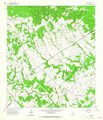 YellowMaps Edge TX topo map, 1:24000 Scale, 7.5 X 7.5 Minute, Historical, 1962, Updated 1964, 26.9 x 23 in - ()