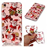 iPhone 6 Plus Case, iPhone 6S Plus Case,Christmas Gift Santa Claus Pattern Ultra Thin Clear Soft Flexible TPU Bumper Protective Back Case Anti-scratch Cover for Apple iPhone 6 Plus iPhone 6S Plus