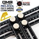 Universal Multi-Angle Measuring Ruler - ANY-ANGLE Template Tool Set - Upgraded Professional Aluminum Alloy Multi-Angle Template Tool - FULL-METAL Angularizer - Multi Functional Angle Ruler - (Black)